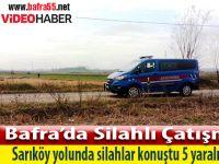 Bafra Sarıköy Yolunda Silahlı Saldırı 5 Yaralı