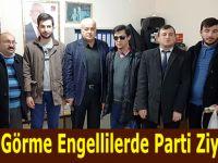 Bafra Görme Engellilerde Parti Ziyaretleri