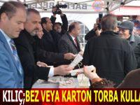 Başkan Kılıç Karton Çanta Dağıttı