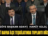 AK PARTİ BAFRA İLÇE TEŞKİLATINDA TOPLANTI DÜZENLENDİ