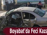 Boyabat'da Feci Kaza 1 Ölü