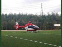 Ambülans Helikopter Eli Kesilen Vatandaşın İmdadına Yetişti