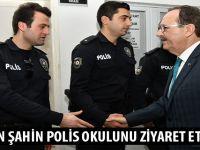 BAŞKAN ŞAHİN POLİS OKULUNU ZİYARET ETTİ