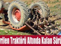 Devrilen Traktörü Altında Kalan Sürücü Öldü