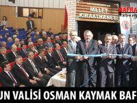 SAMSUN VALİSİ OSMAN KAYMAK BAFRA'DA