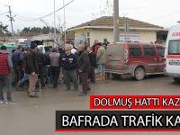 BAFRADA TRAFİK KAZASI; 4 YARALI