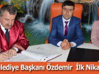 Havza Belediye Başkanı Özdemir İlk Nikahını Kıydı