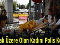 Boğulmak Üzere Olan Kadını Polis Kurtardı