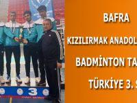 BAFRA KIZILIRMAK ANADOLU LİSESİ BADMİNTON TAKIMI TÜRKİYE 3. SÜ