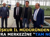 """İşkur İl Müdüründen Bafra Merkezine """"Tam Not"""""""