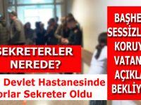 BAFRA DEVLET HASTANESİNDE DOKTORLAR SEKRETER OLDU
