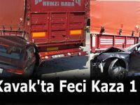 Kavak'ta Feci Kaza 1 Ölü