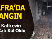 Bafra'da Yangın Evin 2. Katı Kül Oldu