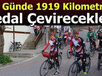 19 günde 1919 kilometre pedal çevirecekler