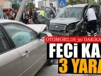 Feci Kaza 3 Yaralı