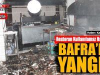Bafra'da Bir Restoran da Yangın Çıktı