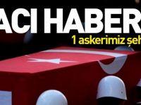 PKK'lı teröristler 1 askeri şehit etti