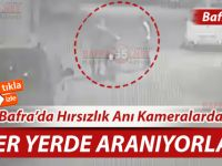 Bafra'da Motosiklet Hırsızlığı Kameralara Yansıdı