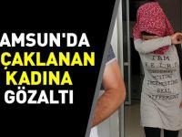 Samsun'da bıçaklanan kadına gözaltı