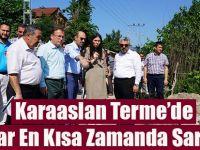 KARAASLAN TERME'DE SEL BÖLGESİNDE İNCELEMELERDE BULUNDU