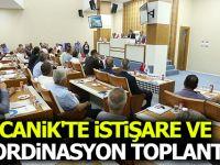 CANİK'TE İSTİŞARE VE KOORDİNASYON TOPLANTISI