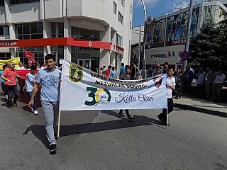 Bafra Anadolu Lisesinden 30.Yıl Yürüyüşü-Bafra Haber