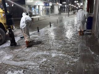 Bafra'da dezenfekten çalışmalarına devam