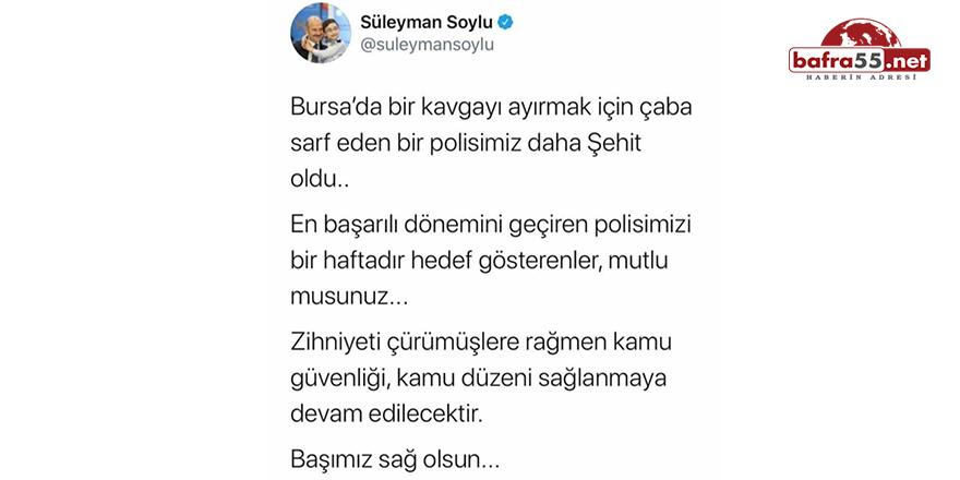 Bursa'da Çıkan Silahlı Çatışmada 1 Polis Memuru Şehit Oldu!