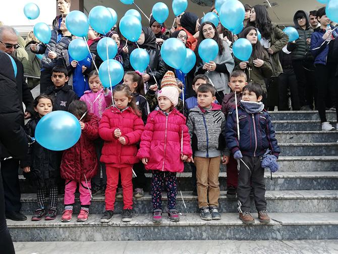 Bafra da Otizm Farkındalık Ayı Kutlamaları Bafra55.net-Bafra Haber