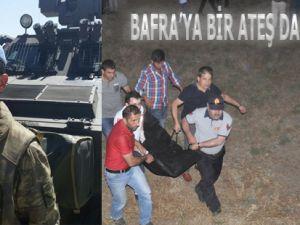 Bafra'ya bir ateş daha düştü