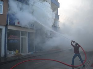 Bafra`da büyük yangın