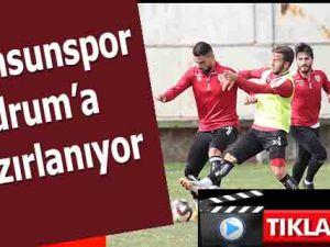 Samsunspor Bodrum maçına hazırlanıyor