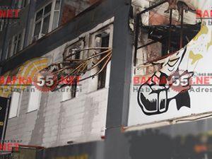 Bafra'da Lokantada Yangın